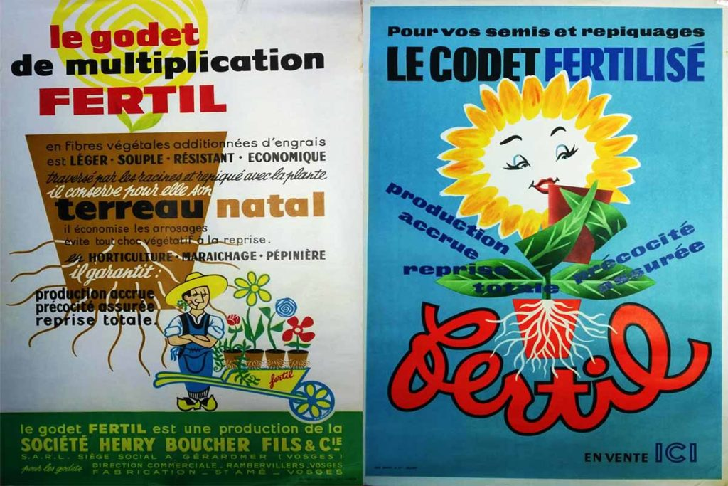 Historical advertising posters from Fertil