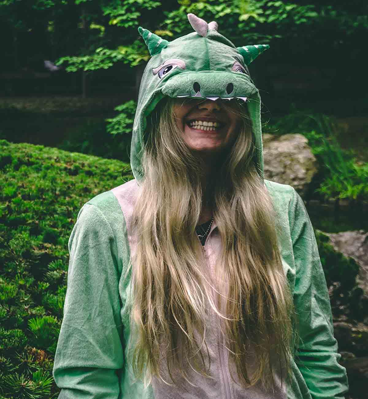 Sandy Gilmore looking happy in her garden